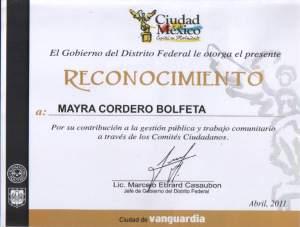 Reconocimiento comités ciudadanos