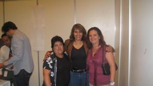 Dione Anguiano, Mayra Cordero y Beatriz Santana.