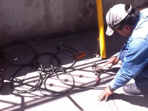 Trabajos de mantenimiento vial