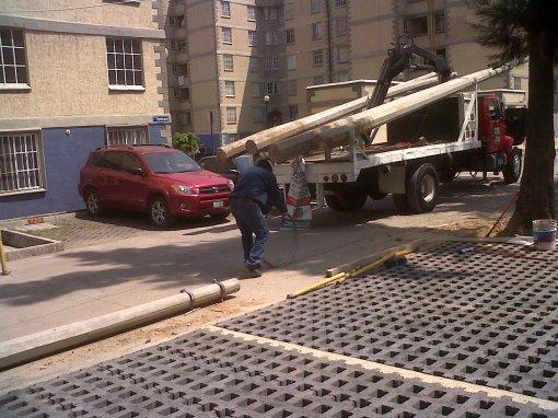 Retiro de postes de electricidad