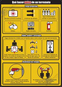 Qué hacer antes de un terremoto