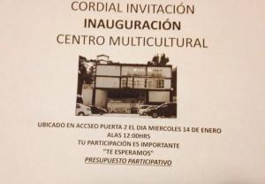 Inauguración del Centro Multicultural en Puerta 2