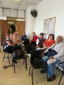 Reunión del programa comunitario de mejoramiento barrial