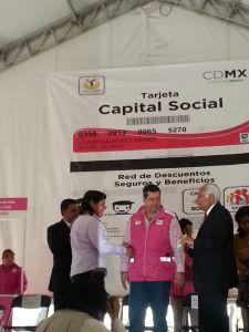 Entrega de tarjetas Capital Social